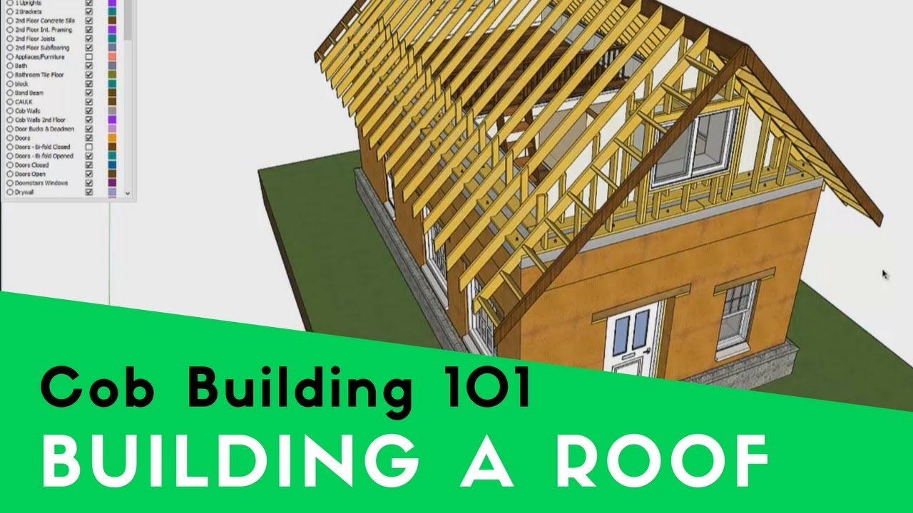 How To Build And Attach Roofing On A Cob House You