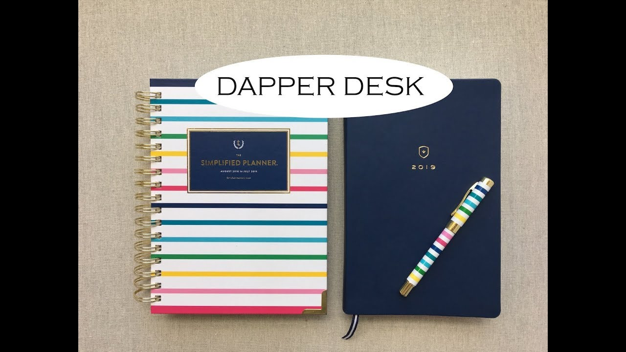 Dapper Desk Planner Review Comparison To Simplified Planner 2019
