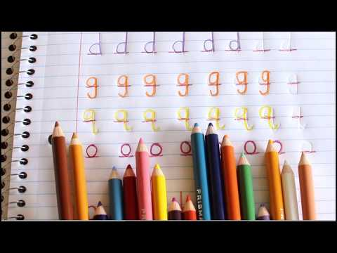 Teach Kids to Write Letters with Colored Pencils
