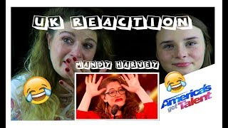 REACTING TO AMERICA'S GOT TALENT ACT- MANDY HARVEY (WE CRIED)