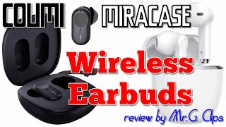 COUMI and MIRACASE Wireless Earbuds Tech Review!