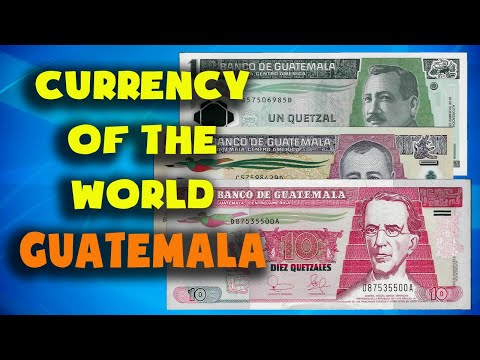 Currency Of The World - Guatemala.Guatemalan Quetzal. Guatemalan Banknotes And Guatemalan Coins