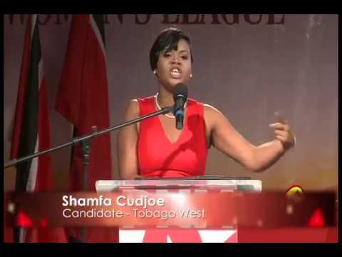 Shamfa Cudjoe at Bournes Rd ,St James Public Meeting.