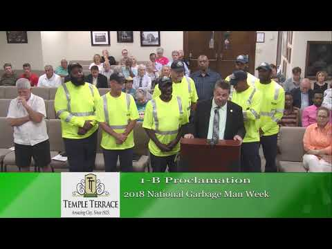 Temple Terrace City Council Meeting 6-19-18