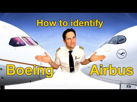 How to IDENTIFY an AIRBUS from  a BOEING? Airplane Spotting 101 by CAPTAIN JOE