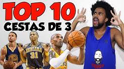 TOP 10 CESTAS DE 3 PONTOS MAIS IMPOSSÍVEIS DA NBA!!!