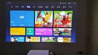 Меню проектора и пиксели Xiaomi Mi Laser Projection TV. Xmitv.ru