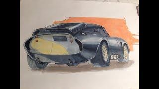 Daytona Cobra Coupe marker pain рисуем маркерами