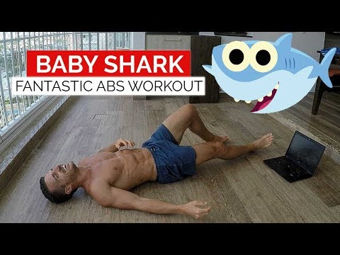 Personal Trainer does Baby Shark Abs Challenge   Gym Performance