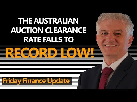 Australian Auction Clearance Rates Hit Record Low!