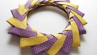 Origami Modular Braided Wreath