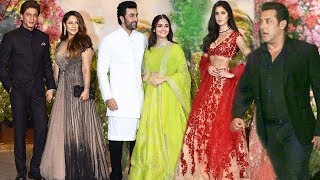 Bollywood Stars At Sonam Kapoor's Wedding Party FULL VIDEO Salman, Shahrukh, Katrina, Varun, Ranbir