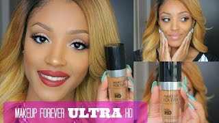 FIRST IMPRESSION + Demo | Makeup Forever ULTRA HD Foundation