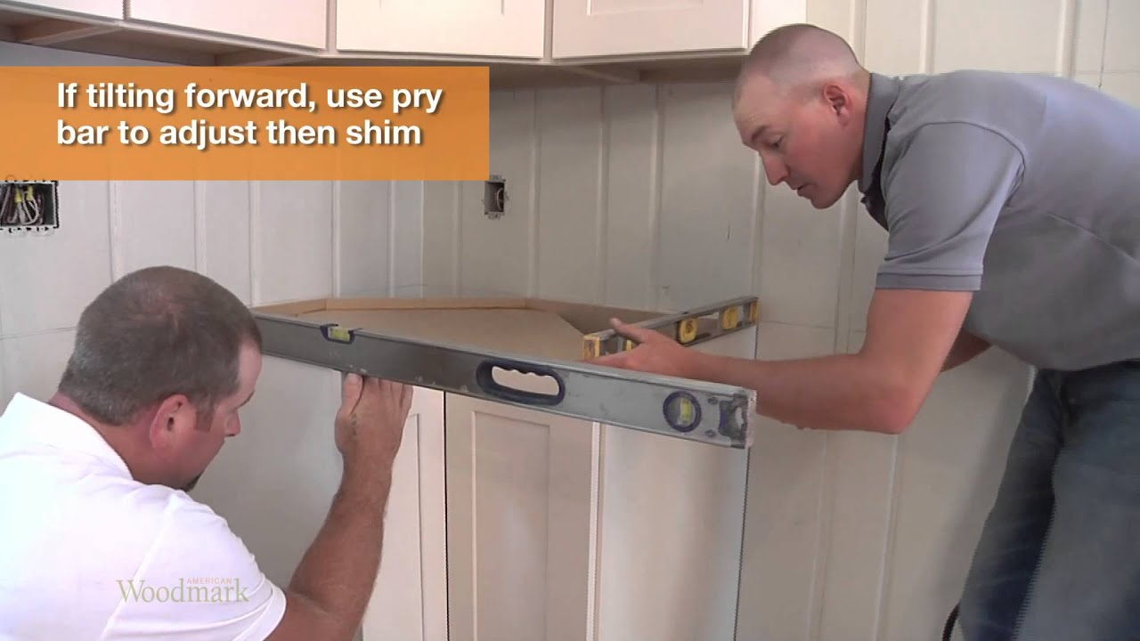 American Woodmarku0027s: Base Cabinet Installation   YouTube
