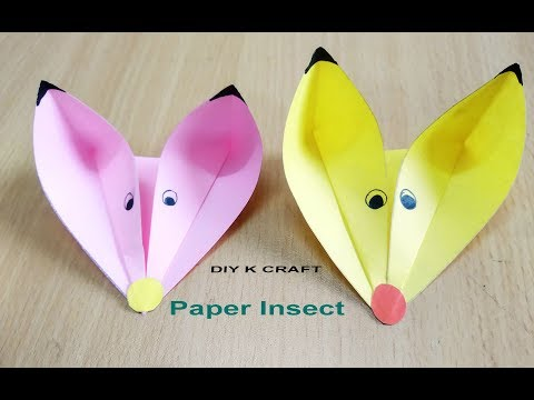 Easy Paper Insects craft | DIY K CRAFT