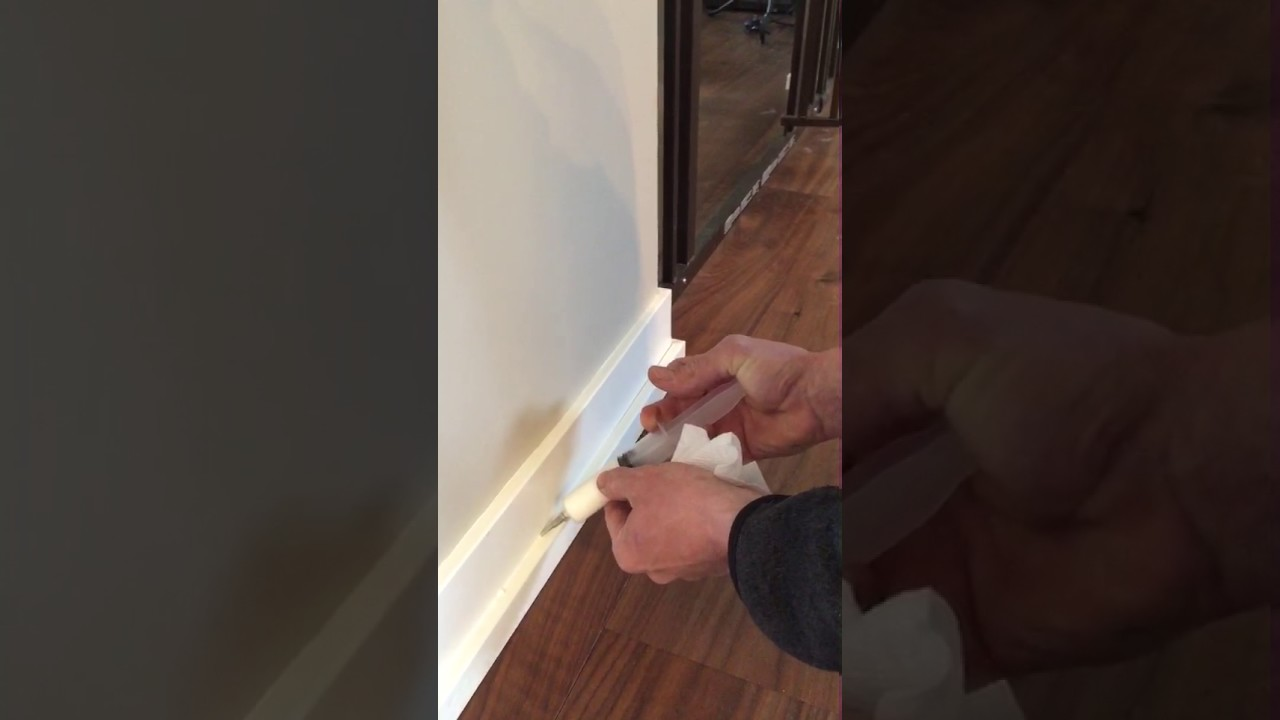 Best Caulk For Trim The Easiest Way To Caulk Trim And Baseboard Youtube