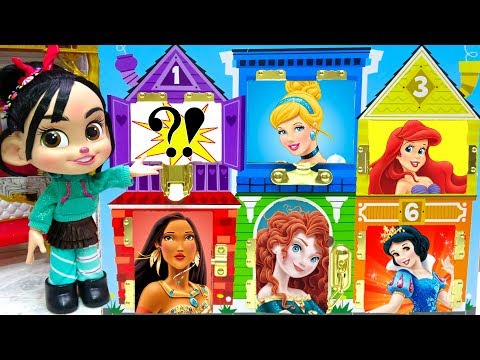 Ralph Breaks the Internet Vanellope Rescue Disney Princesses Dollhouse Learn Opposites Matching
