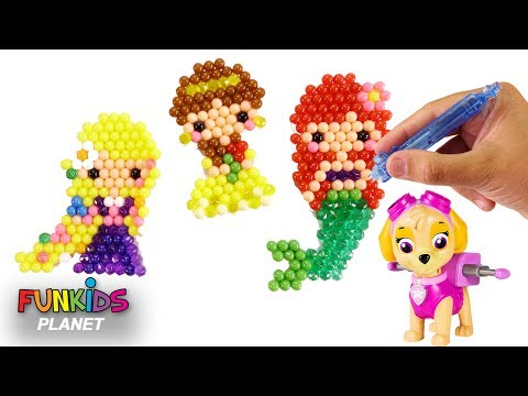 Thumbnail: Learn Videos for Kids: Paw Patrol Skye & Disney Princess Aquabeads and Surprises