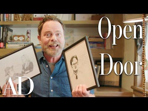 Inside Rainn Wilson's Home Office & Pig Farm | Open Door | Architectural Digest