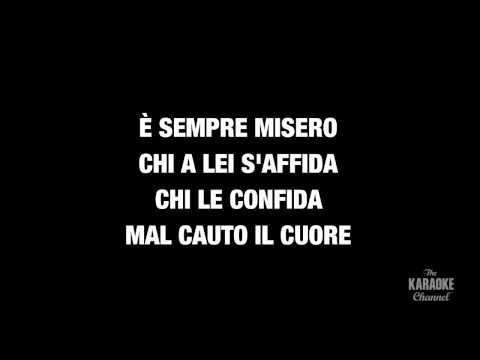 """La donna e mobile in the Style of """"Traditional"""" karaoke video with lyrics (with lead vocal)"""