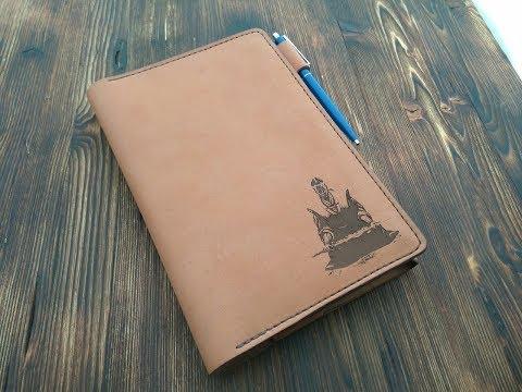 Работа с кожей. Простая обложка для ежедневника. Leather Hand Made