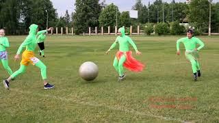 Комический футбол на Дне России в Рузе