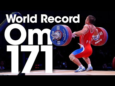 Om Yun Chol (56kg, North Korea) 171kg Clean and Jerk World Record 2015 World Championships