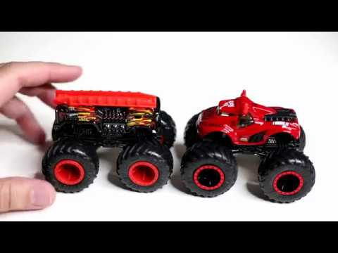 Seth Rollins And The Rock Wwe Monster Trucks From Hot Wheels Youtube