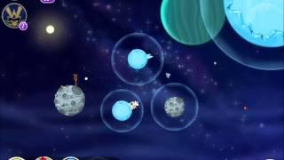 Angry Birds Space - Solar System. Level 10-10 Uranus. 3 stars