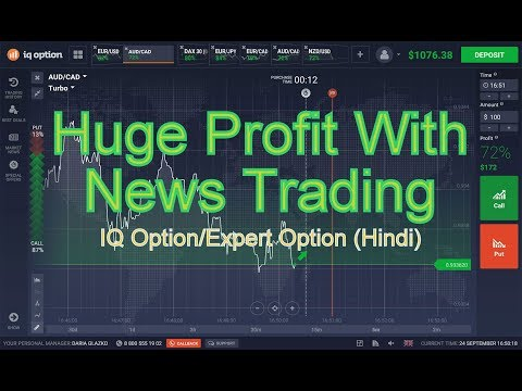 Amazing Profit With News Trading In Expert Option/IQ Option (Hindi)