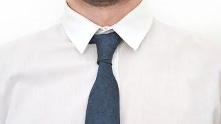 Как завязывать галстук узел Принц Альберт How to tie a tie knot Prince Alber