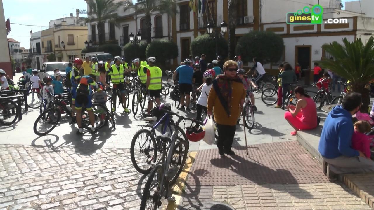 """Gines """"pedaleó"""" por la igualdad con una nueva edición de la Marcha Cicloturista Infantil"""