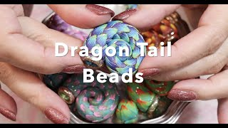 Dragon Tails Polymer Clay Bead Tutorial , Super Simple Beginner