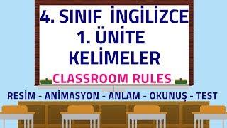 4.SINIF İNGİLİZCE 1.ÜNİTE KELİMELER | CLASSROOM RULES