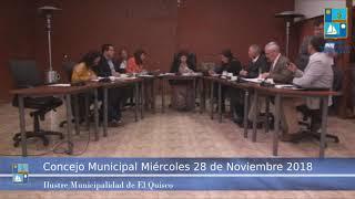 Concejo Municipal Míercoles 28 de noviembre 2018 - El Quisco