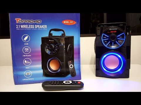 Портативная Bluetooth колонка TOPROAD S37 с Алиэкспресс – Мой обзор! (Топ за свои деньги!)