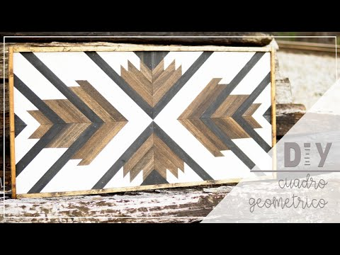 DIY Cuadro Geométrico / Geometric Wood Art
