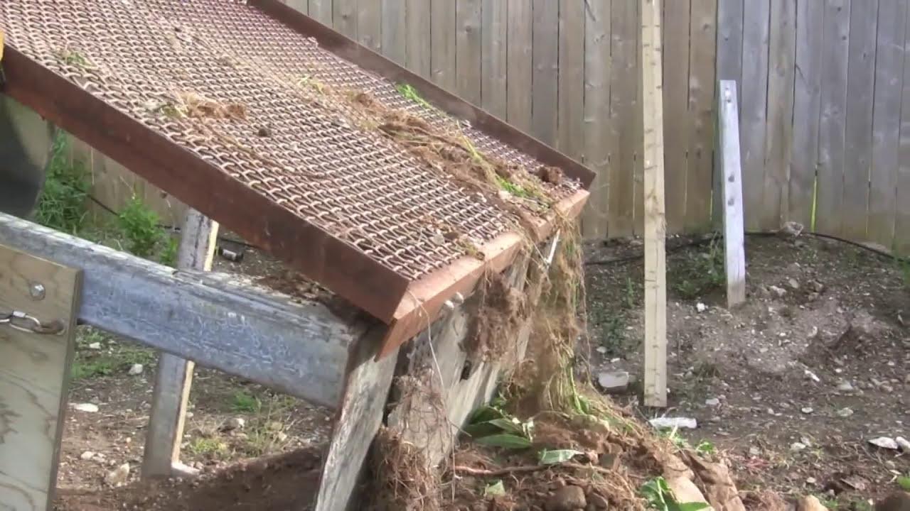 Homemade Soil Screener/Sifter Screening