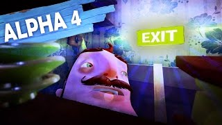 NEW HELLO NEIGHBOR ALPHA 4 LEVEL!!! (Hello Neighbor Secrets!! / Hello Neighbor Alpha 4 Gameplay)