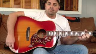 Copperhead road acoustic guitar lesson Steve earle