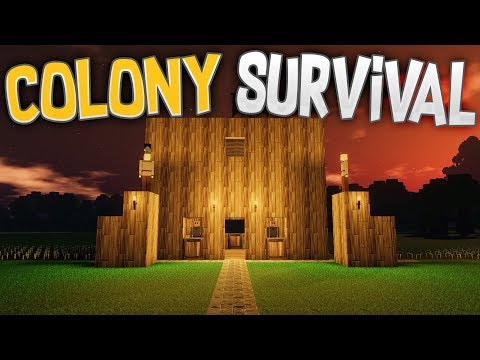 Colony Survival - Day Zombies + New Updates! - Starting Struggles - Colony Survival Gameplay Part 1