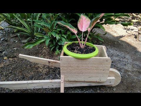 How To Build Wooden Wheelbarrow Planter   DIY Garden