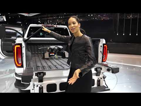 New 2020 Gmc Sierra Denali At4 2500hd Six Way Tailgate Demonstration At 2019 Chicago Auto Show 4k Youtube