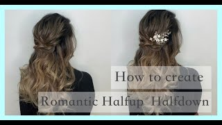 HOW TO CREATE Romantic halfup halfdown | Hair styling tutorial for hair stylist