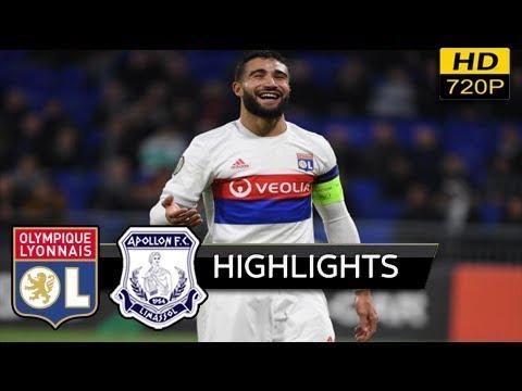 Lyon vs Apollon Limassol 4-0 - résumé & Tous les buts (uefa europa league) 23 novembre 2017 HD
