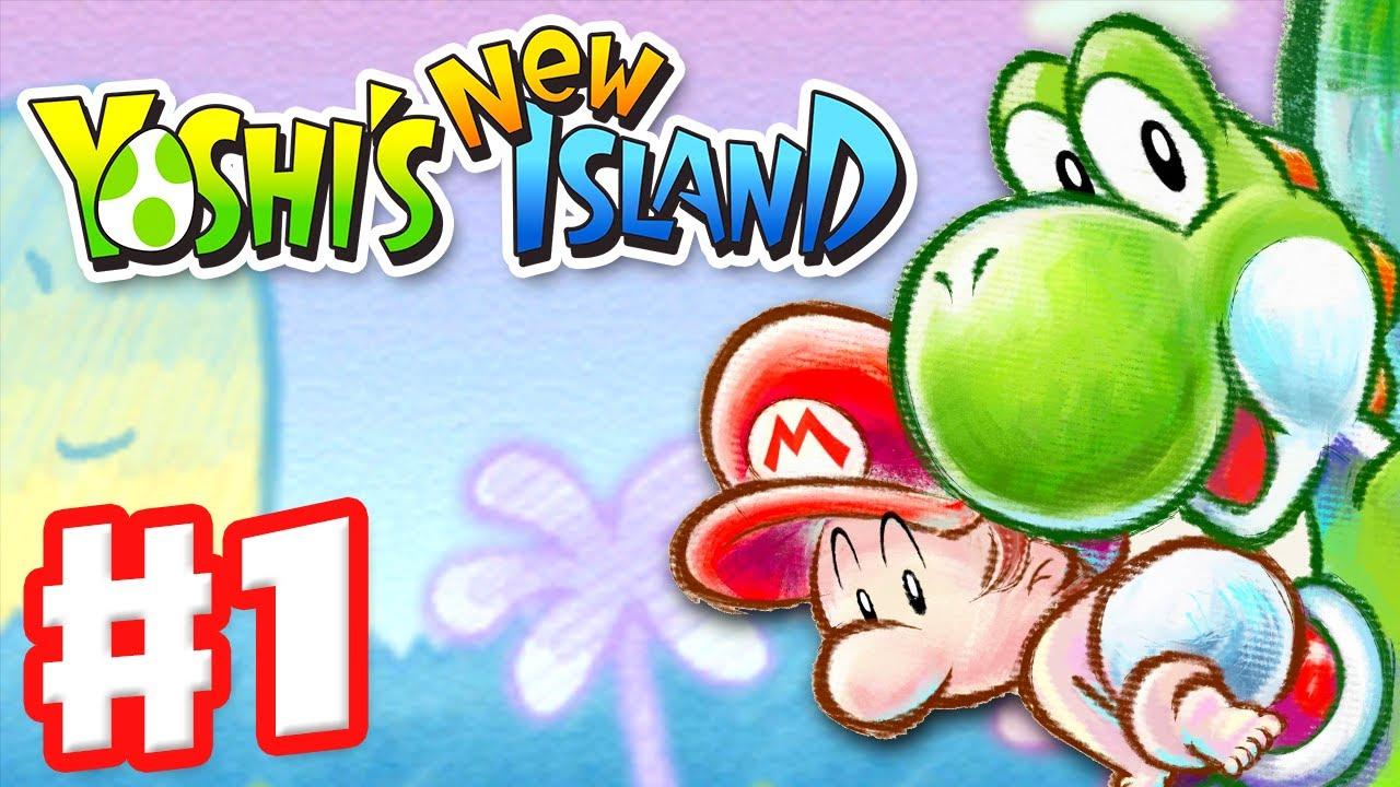 Yoshi S New Island Gameplay Walkthrough Part  World