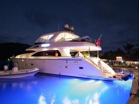 74 Motor Yacht Viaggio BVI Luxury Charters On