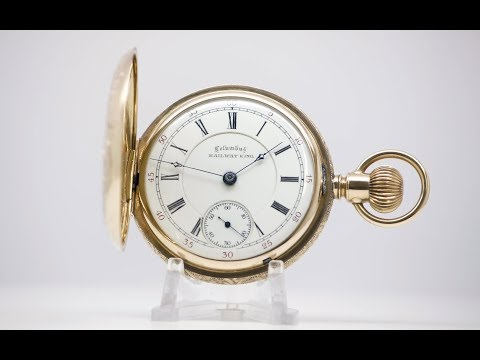 Antique Columbus Pocket Watch - Model Railway King Circa 1894