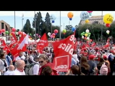 More Italian anti-austerity protests in Rome