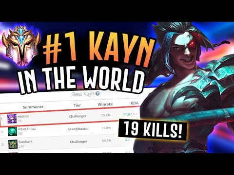 THE NUMBER ONE KAYN IS AMAZING - Challenger Jungler - League of Legends